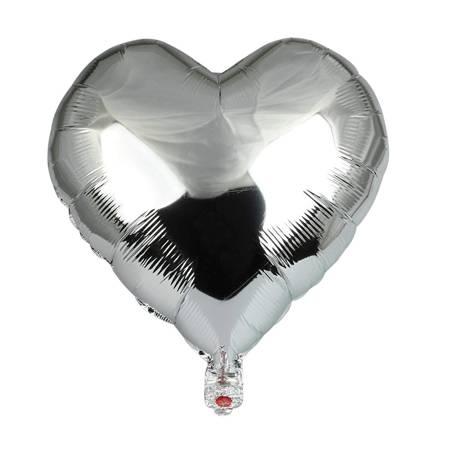 "Foil Heart, Silver 18"" (45cm.)"