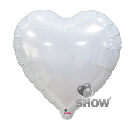 """Foil Heart, White 18"""" (45cm.)"""