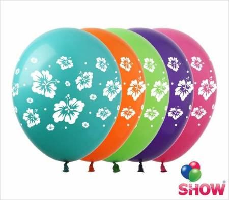 """SHOW™ 12"""" """"Hawaiian flowers"""" (10 pcs.)"""
