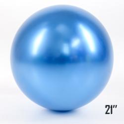 """Balon  21"""" CHROME,  Niebieski (1 szt.)"""