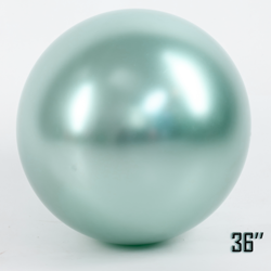"Balon  36"" CHROME,   Miętowa Perła (1 szt.)"