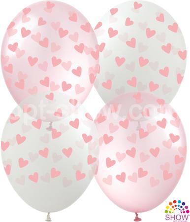 """Balony """"Serca Różowe"""" (10 szt.)"""