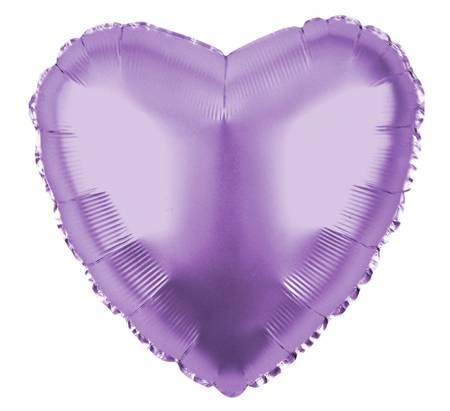"Serce Foliowe Liliowy 18"" (45cm.)"