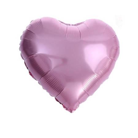 "Serce Foliowe Różowe 18"" (45cm.)"